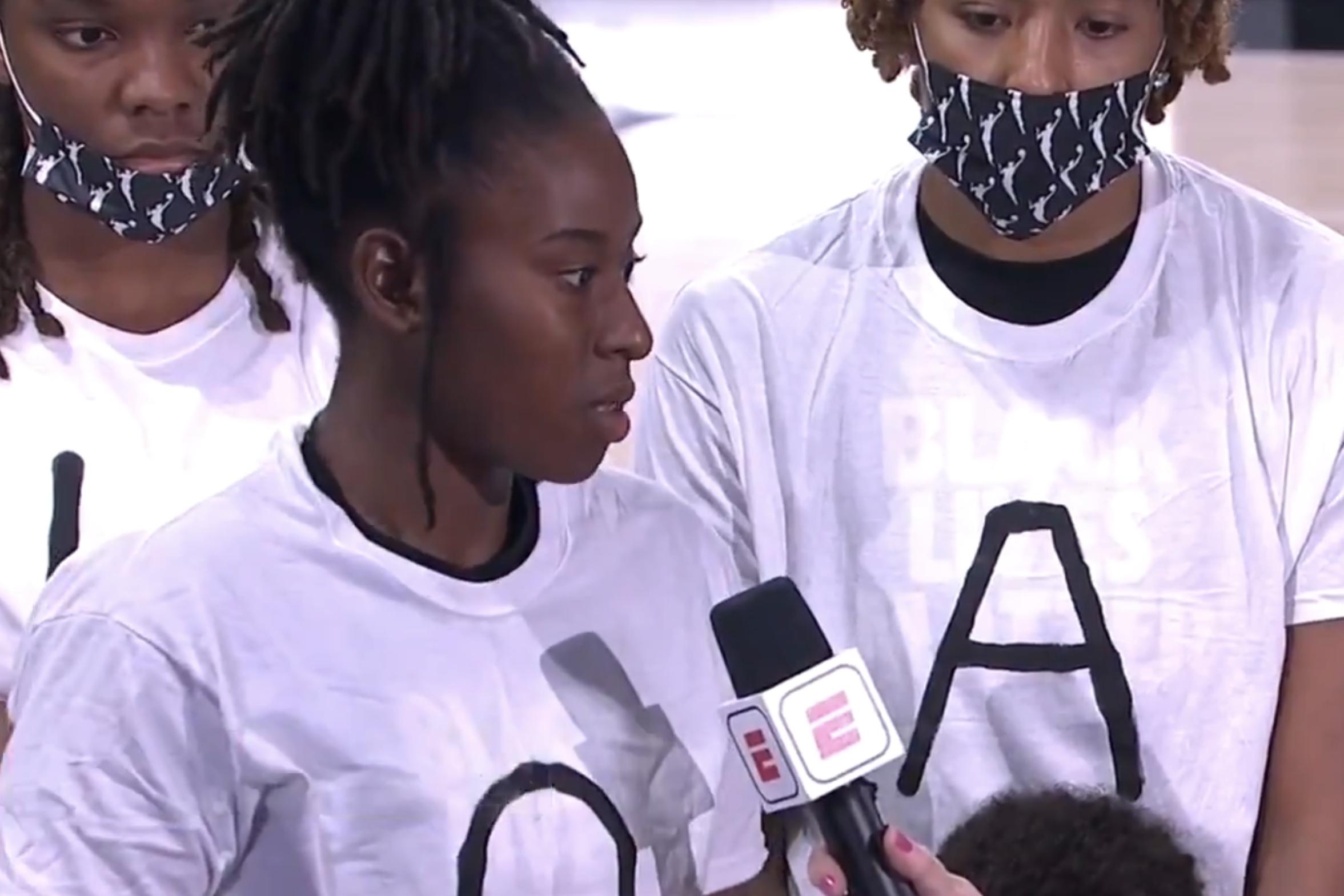 WNBA takes a stand