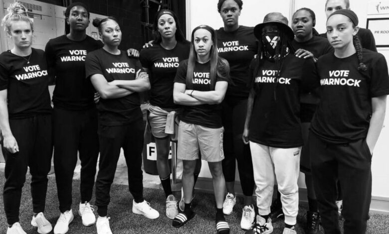 WNBA backs Warnock on IG
