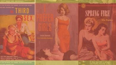 lesbian pulp publishing collage